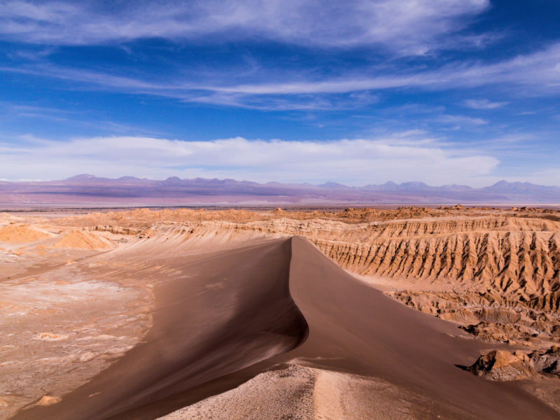 Sand dune in Valle de la Luna, Chile
