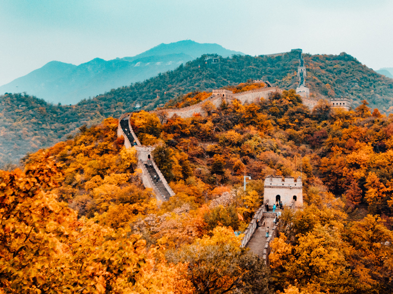 Great Wall of China during autumn, China